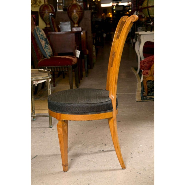 Set Six Biedermeier Style Side Chairs Dining Chairs With Ebony Inlay Can Buy One - Image 6 of 9