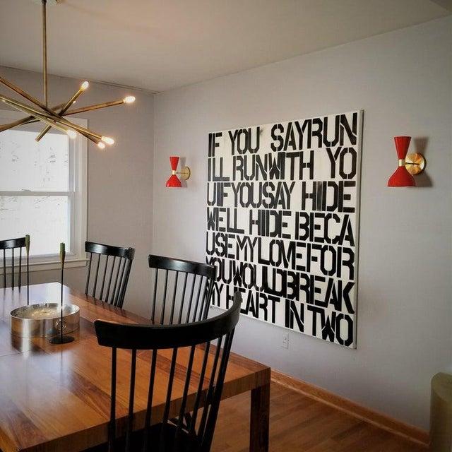 Blueprint Lighting Ludo Wall Sconce in Brass + Teal Enamel, Handmade by Blueprint Lighting For Sale - Image 4 of 5