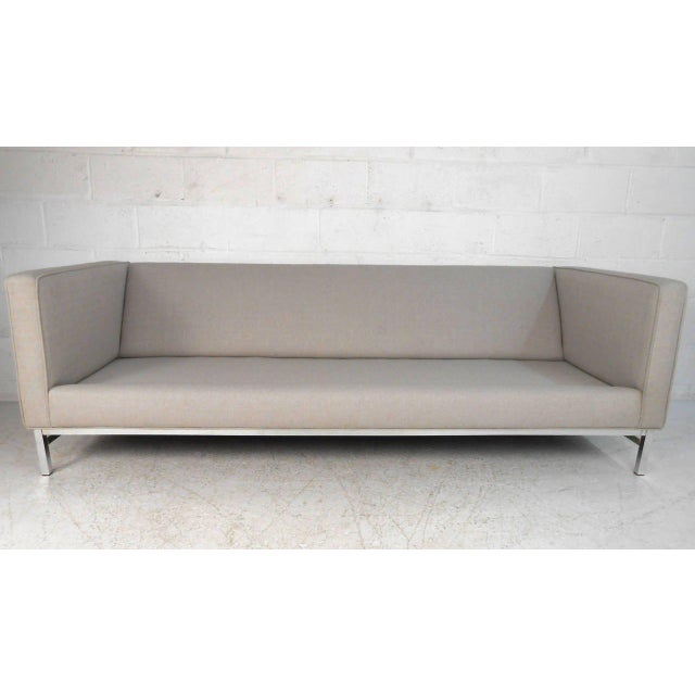 1970s Mid-Century Modern Florence Knoll Style Sofa For Sale - Image 5 of 10
