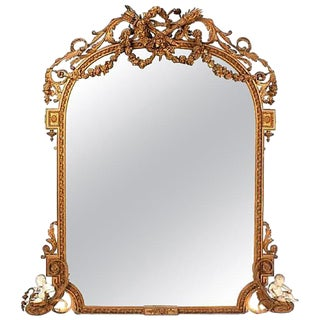 Louis XV Style Gilded Mirror, 19th Century For Sale