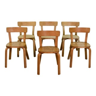 Mid-Century Alvar Aalto chairs 69 for Artek – Set of 6 For Sale