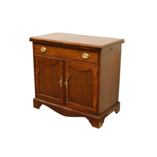 20th Century Traditional Thomasville Furniture Mahogany Collection Flip Top Server For Sale