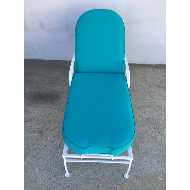 Woodard Furniture Co. Steel Scrolling Reclining Outdoor / Patio Chaise Lounge by Woodard For Sale - Image 4 of 11
