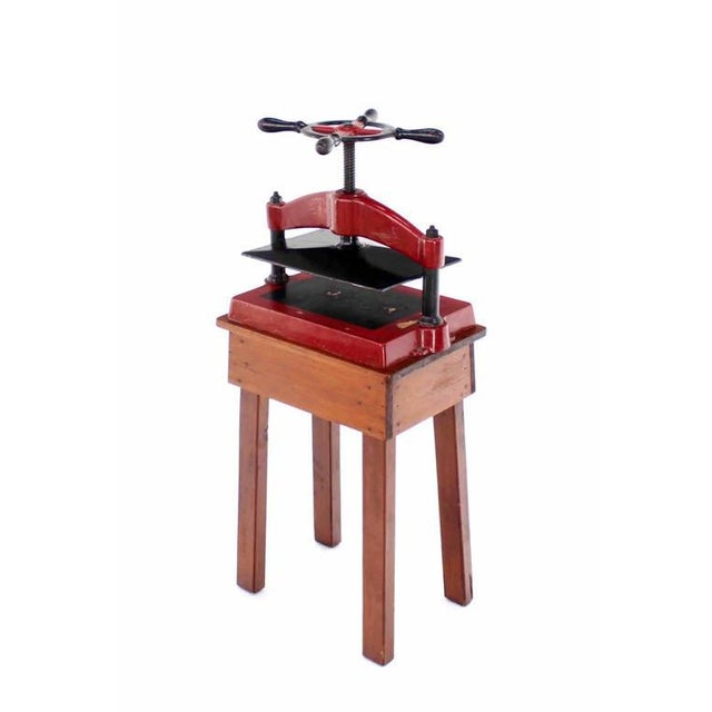 Mid-Century Modern Heavy Antique Cast Iron Book Press For Sale - Image 3 of 8