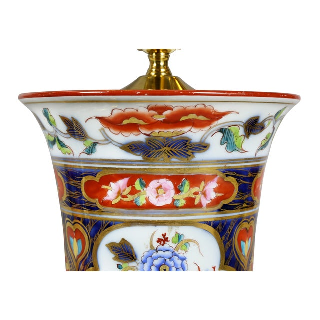 Late 19th Century Pair of Victorian Imari Pattern Table Lamps For Sale - Image 5 of 11