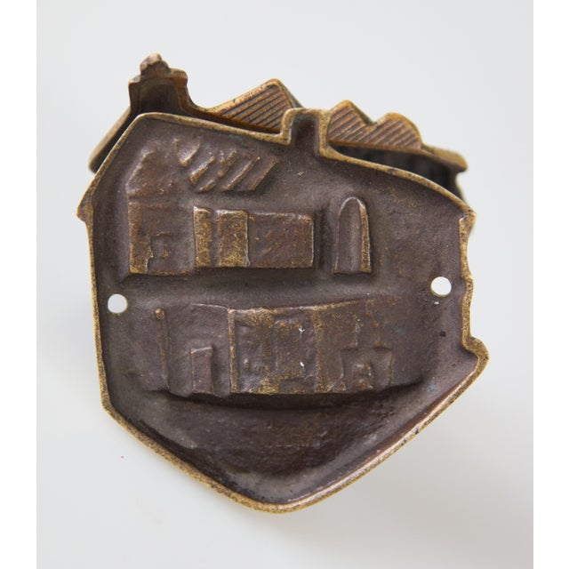 English Brass Shakespeare's House Door Knocker For Sale - Image 4 of 7