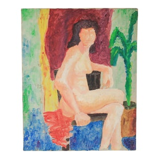Nude Oil Painting on Canvas For Sale