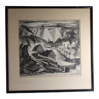 1938 Wpa Signed Lithograph Known Muralist For Sale