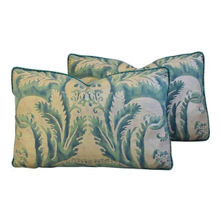 Italian Mariano Fortuny Feather/Down Accent Pillows - Pair For Sale