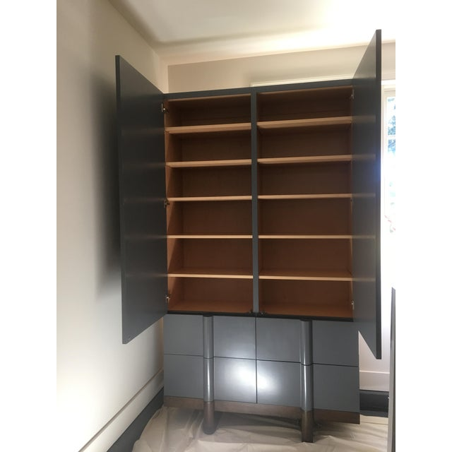 Vintage Modern Black Lacquered Armoire - Image 2 of 7