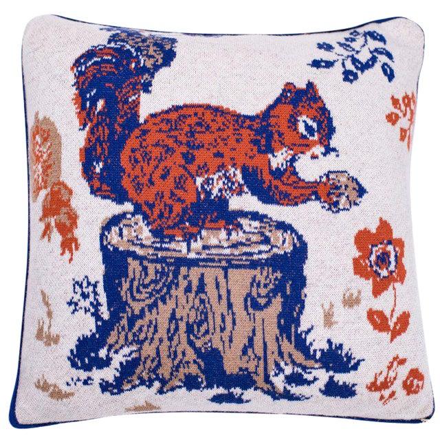 L'Ecureuil Gourmand Cashmere Pillow For Sale