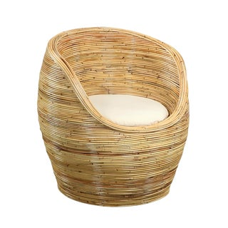 Woven Barrel Chair For Sale