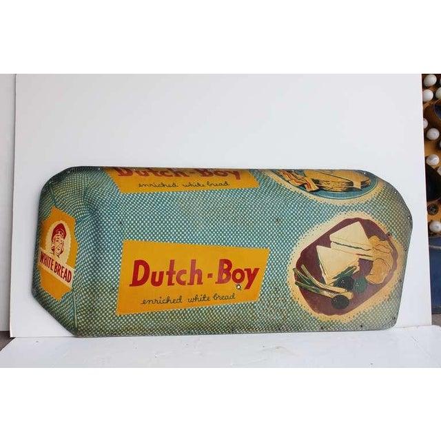 1950's original advertising masonite sign for Dutch Boy.