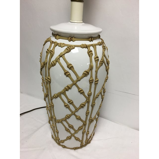 Vintage Faux Bamboo Lamp For Sale - Image 5 of 7