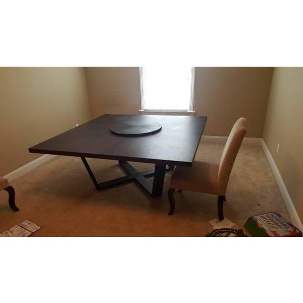 B & B Italia Black Oak Dining Table - Image 5 of 8