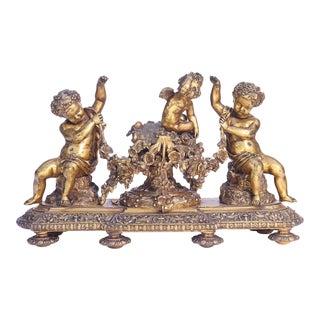 19th C. French Bronze Cherub Centerpiece For Sale