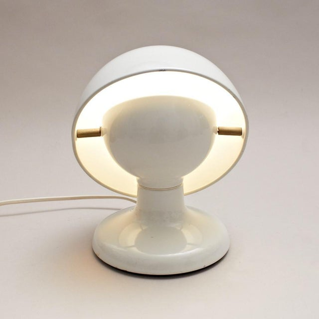 This white Jucker lamp was designed by Afra and Tobia Scarpa circa 1963. It was manufactured by Flos, circa 1965 and is...