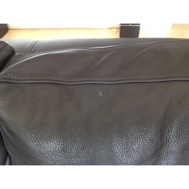Verdesign Dark Grey Leather Modern Sofa & Ottoman - Image 8 of 11