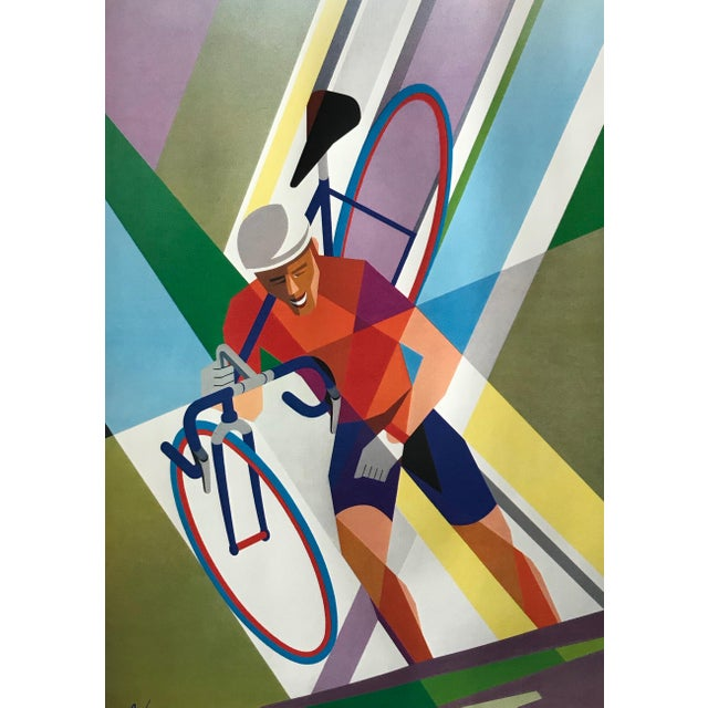 2000 - 2009 2002 Contemporary Cycling Poster, Foré (Arches Paper) For Sale - Image 5 of 6