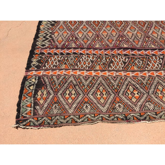 African Vintage Moroccan Nomadic African Tribal Rug For Sale - Image 3 of 9