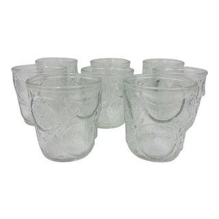 Set Vintage Citrus Fruit Glass Cups For Sale