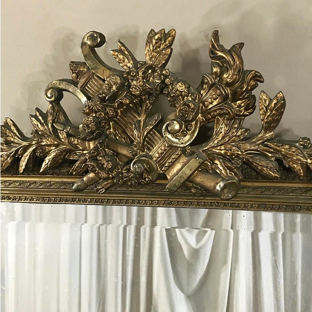 Late 19th Century 19th Century French Louis XVI Gilded Mirror For Sale - Image 5 of 12