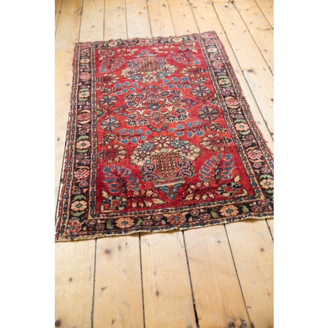 "1930s Vintage Lilihan Rug - 2'8"" X 4'5"" For Sale - Image 5 of 12"