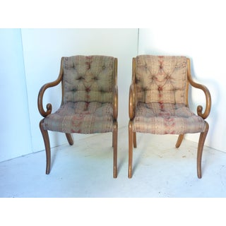 Vintage 20th C. Scroll Armchairs - A Pair Preview