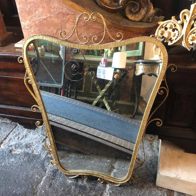 1950s 1950s Italian Mid-Century Modern Pier Luigi Colli Shaped Wall Mirror For Sale - Image 5 of 13