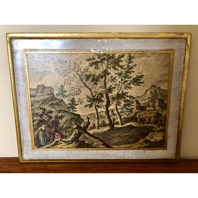 Florentia Vintage Florentine Scenic Wall Plaques For Sale - Image 4 of 8