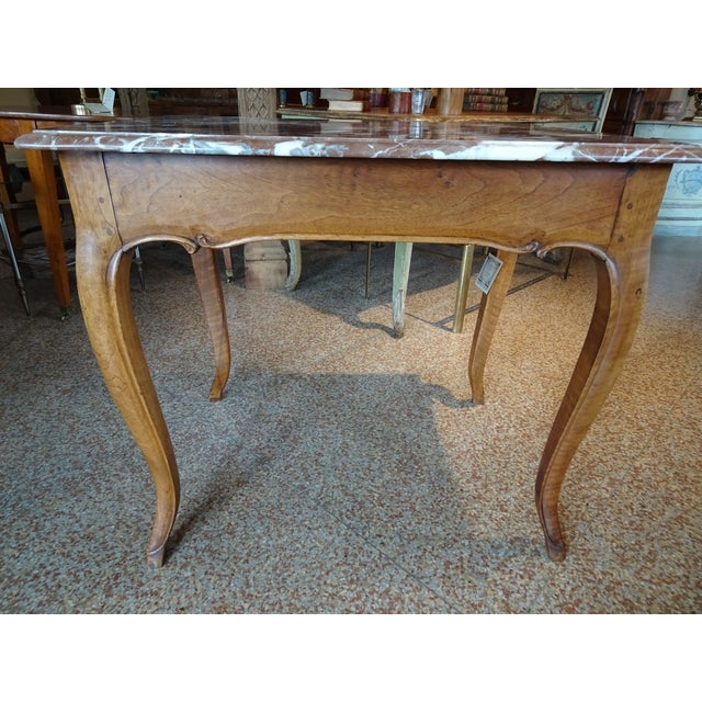 French 19th Century French Marble Top Table For Sale - Image 3 of 12
