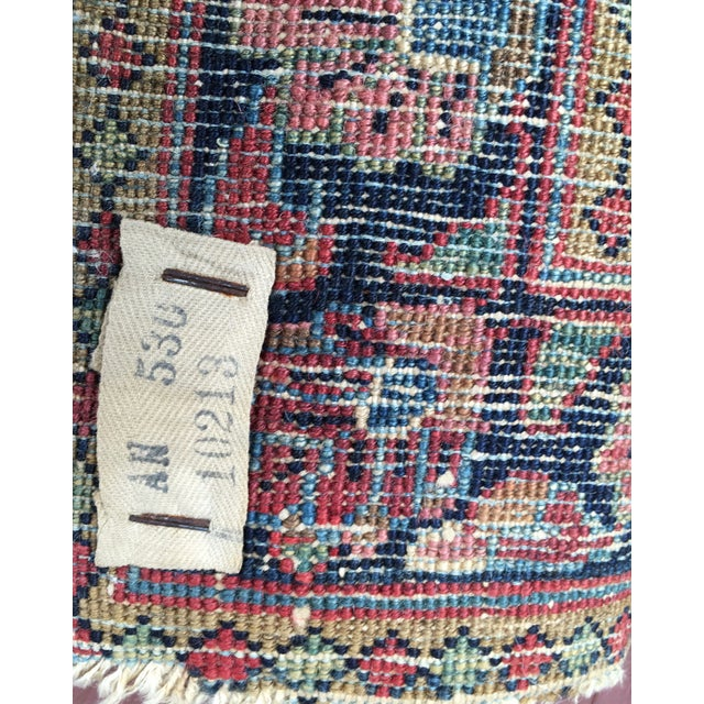 1920s Hand-Knotted Runner - 2′ × 6′ - Image 9 of 11