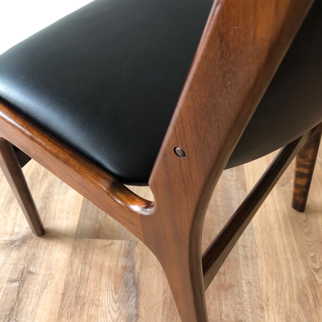 1960s Vintage Rosewood Dining Chairs by Erik Buch (Model 89) - Set of 4 For Sale - Image 10 of 13