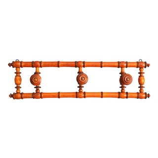 French Faux Bamboo Hanging Wall Wall Rack For Sale