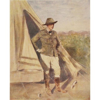 1901 Young Winston Churchill by M. Menpes Original Lithograph For Sale