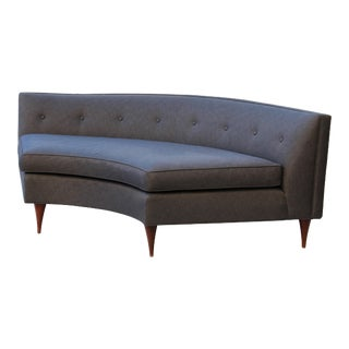 Tufted Mid-Century Settee, Banquette, or Loveseat