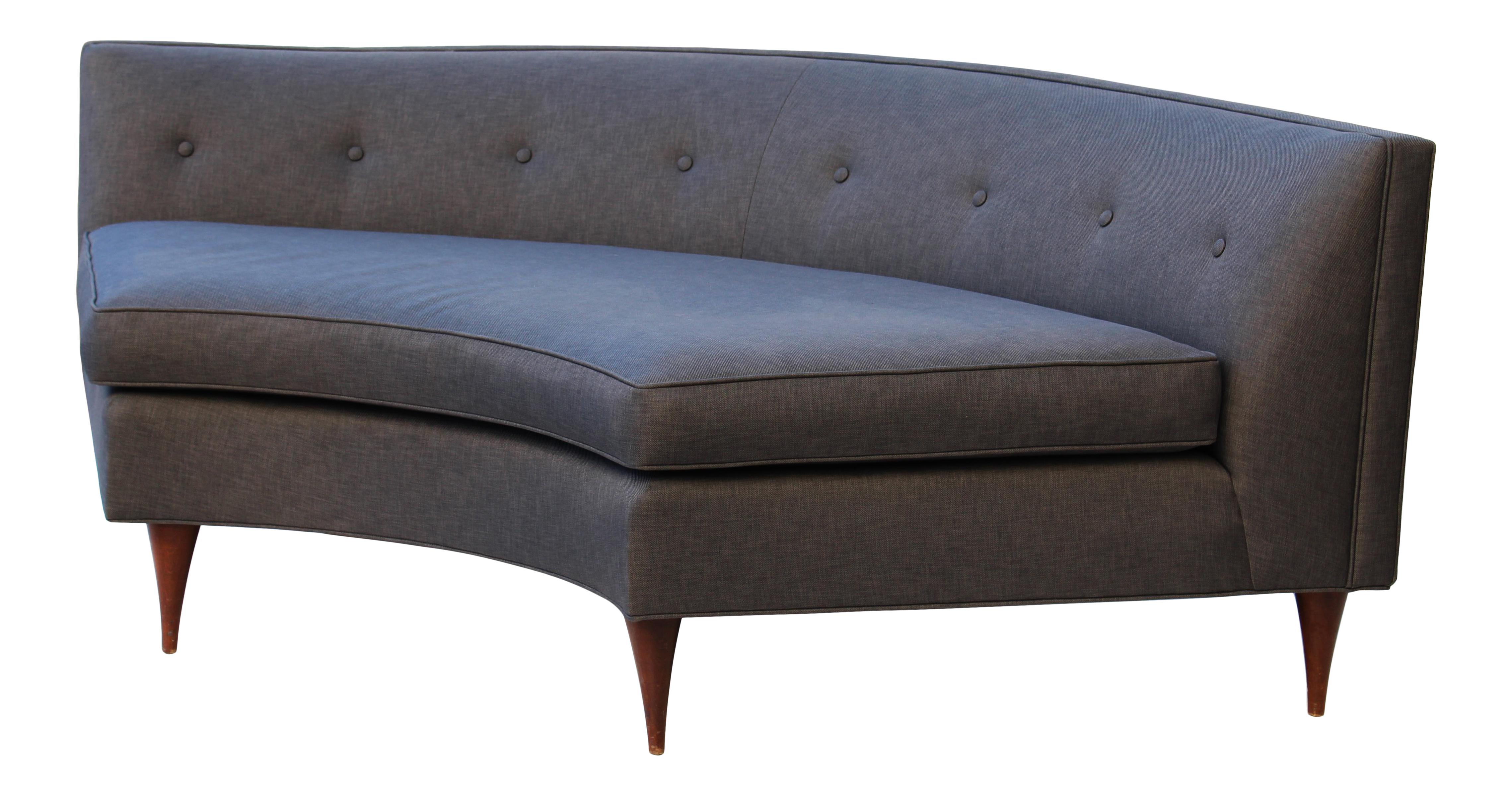 Captivating Tufted Mid Century Settee, Banquette, Or Loveseat Nice Design