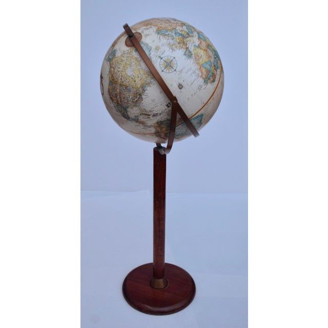 Fantastic Replogle Brand Floor Globe Created With A Solid Hardwood Stand And Brass Colored