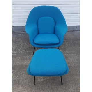 1950's Vintage Saarinen Knoll Womb Chair and Ottoman Preview