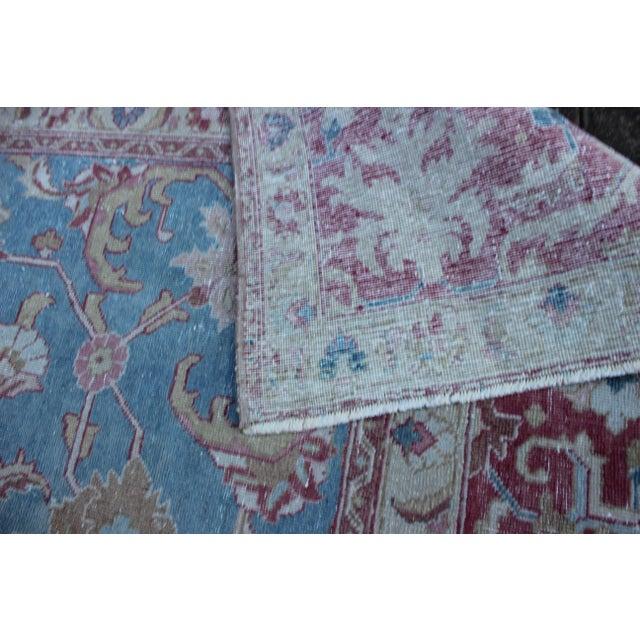 Blue Vintage Tabriz Wool Rug - 7′ × 10′1″ For Sale - Image 8 of 9