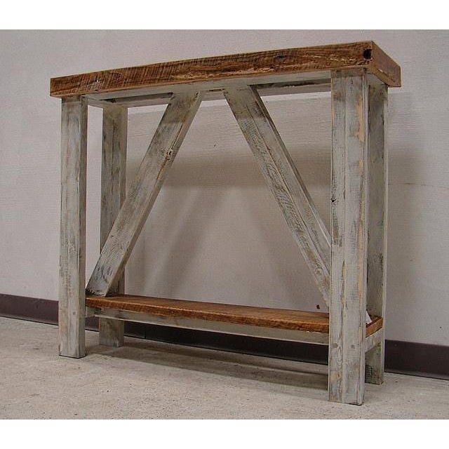 This is a gorgeous handmade re-purposed entry/hall table. Our artisans built this beautiful table out of 100 year old...