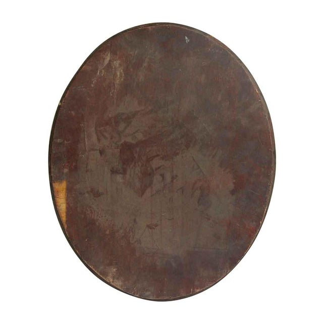 Oval Wood Frame Beveled Mirror For Image 4 Of
