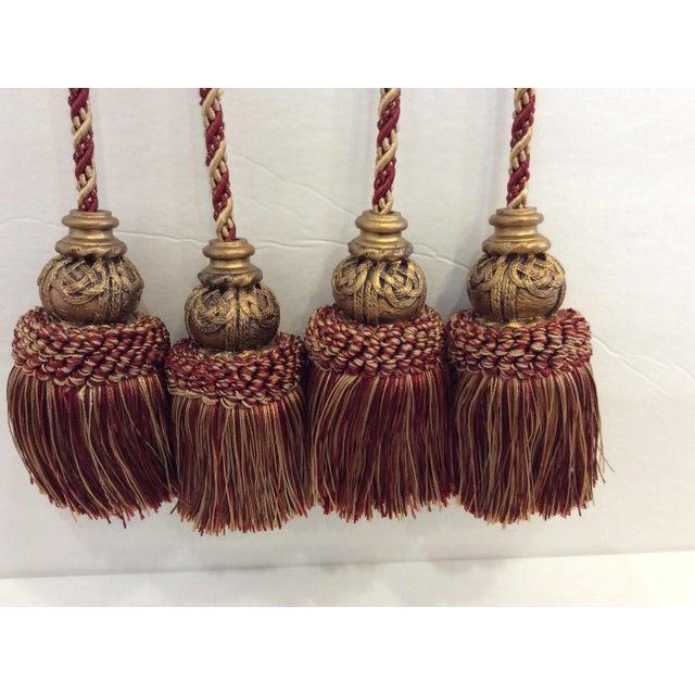Moroccan Silk & Wood Bead Tassels- Set of 8 - Image 3 of 4