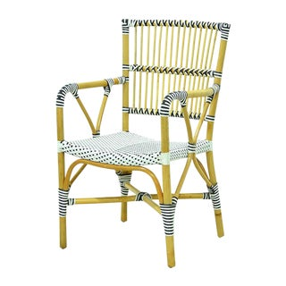 Modern Veranda Rattan and Synthetic Woven Armchair For Sale