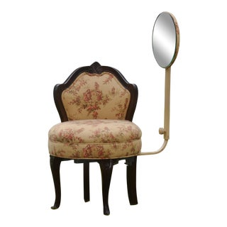 Antique Replica Vanity Chair With Mirror