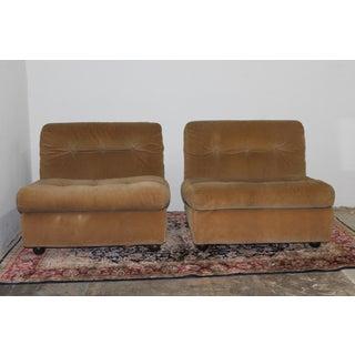 1970s Modern Mario Belini Fiber Fill Custom Matello Amani Lounge Chairs - S/3 Preview