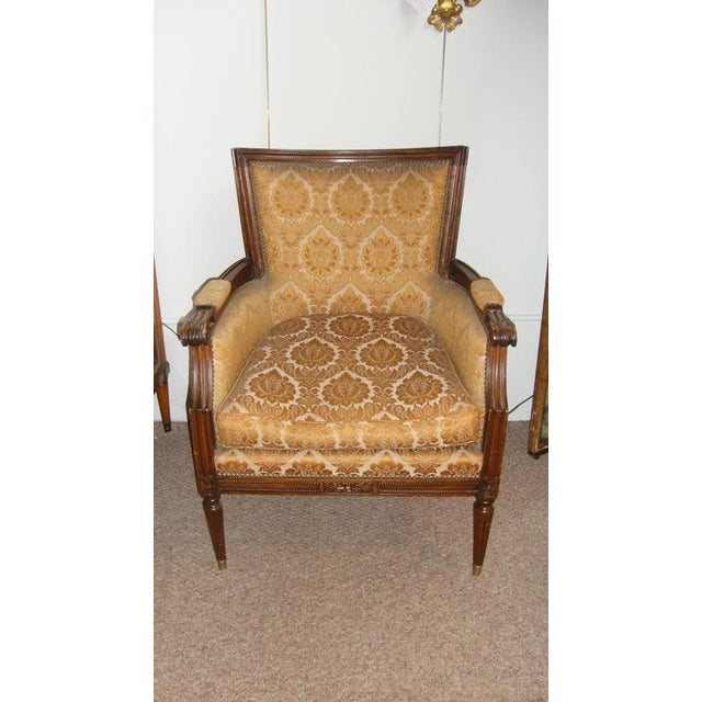 Louis XVI Pair of Louis XXI Style Armchairs by Maison Jansen For Sale - Image 3 of 8
