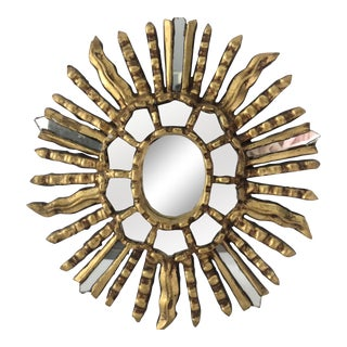 Italian Giltwood Sunburst Mirror For Sale