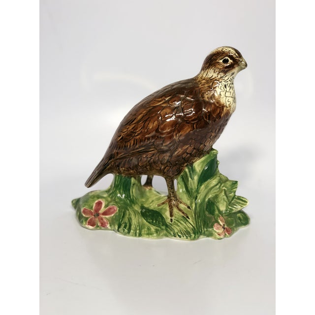 20th Century Cottage Ceramic Quail Figurine For Sale - Image 6 of 6