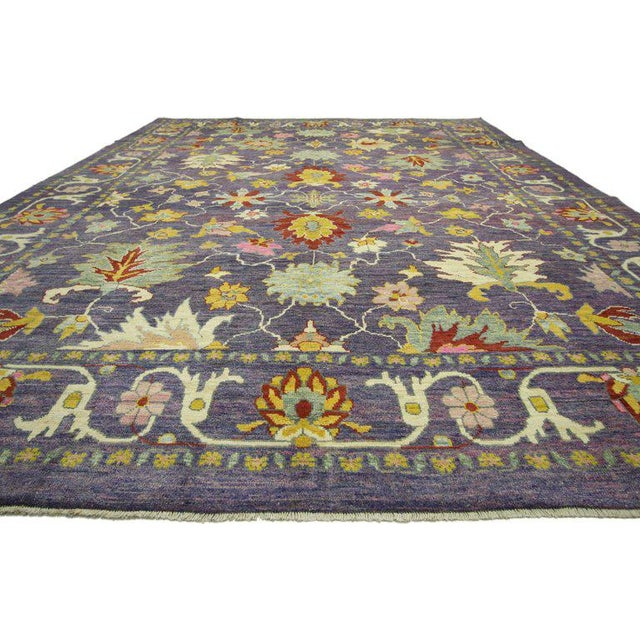 "Contemporary Colorful Contemporary Turkish Oushak Rug - 11'4"" X 15'6"" For Sale - Image 3 of 10"